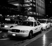 nya taxistider york Royaltyfri Foto