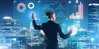 Nya tekniker och innovationer som metoder för effektiv modern affär Arkivbilder