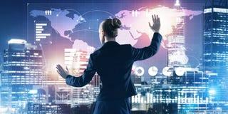 Nya tekniker och innovationer som metoder för effektiv modern affär Arkivfoton