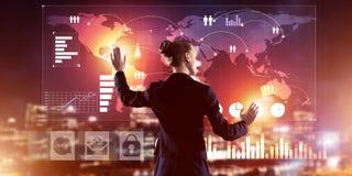Nya tekniker och innovationer som metoder för effektivt modernt Arkivfoton