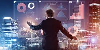 Nya tekniker och innovativa metoder för effektiv modern affär Arkivbild