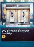 nya telefoner offentliga york Arkivfoto