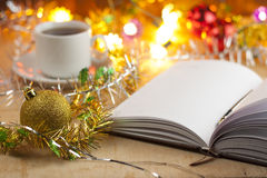 Nya tillträden Bråklista till det nya året Lista av shopping för det nya året Royaltyfri Bild