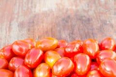 nya tomater för bakgrundsCherry Arkivfoton