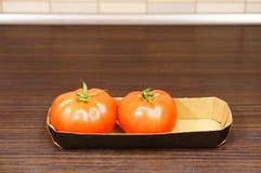 nya tomater två Royaltyfria Bilder