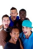 nya unga grupphöfttonåringar Arkivfoton