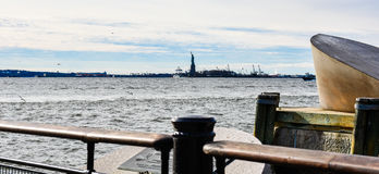 nya USA york Den amerikanska köpmannen Mariners Memorial i batteri parkerar Arkivbild