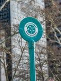 nya USA york NYC-GREENWAYhäftet i batteri parkerar Royaltyfri Bild