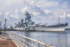 Nya USS - slagskepp för ärmlös tröja BB-62 Royaltyfri Foto