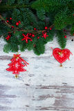 Nya vintergröna trädfilialer för jul Royaltyfri Foto