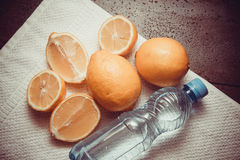 Nya vitaminer - gula citroner Royaltyfria Foton