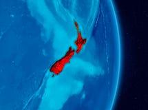 Nya Zeeland från utrymme Arkivfoton