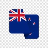 Nya Zeeland - nationsflagga stock illustrationer
