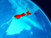 Nya Zeeland på jord Royaltyfri Foto