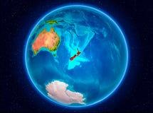 Nya Zeeland på jord Royaltyfria Bilder