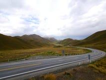Nya Zeeland 13 - väg Fotografering för Bildbyråer
