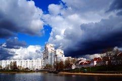Nyamiha Terraplén del río en Minsk Fotografía de archivo