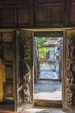 Nyan Shwe Kgua temple. Details , wooden door in  Monastery at Nyan Shwe Kgua temple in Myanmar Royalty Free Stock Image