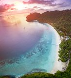 Nyang oo phee island one of most popular traveling destination at andaman sea southern border of myanmar and thailand stock photos
