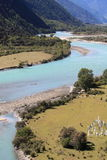 Nyang River. The Nyang River is a major river in south-west Tibet and the longest tributary of the Yarlung Zangbo River Royalty Free Stock Photos