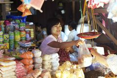Nyanung Market Myanmar Royalty Free Stock Image