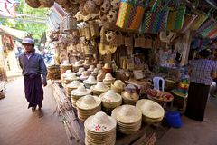 Nyanung Market Myanmar Royalty Free Stock Photos