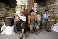 Nyanung Markt Myanmar Stockbild