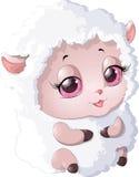Nyashnye sheep on a white background Stock Photos