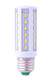 Nyast LEDD ljus kula som isoleras på vit Royaltyfria Bilder