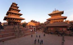 Nyatapola pagod på den Taumadhi fyrkanten i Bhaktapur Fotografering för Bildbyråer