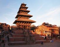 Nyatapola pagod på den Taumadhi fyrkanten i Bhaktapur Royaltyfri Fotografi