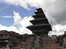 Nyatapola  Pagoda Temple, Bhaktapur, August 2011 Royalty Free Stock Images