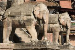 Nyatapola Tempel in Bhaktapur Stockfotos