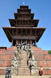 Nyatapola Temple at Bhaktapur Durbar Square Royalty Free Stock Images