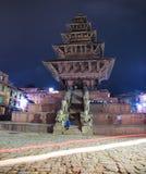 Nyatapolatempel, het Vierkant van Bhaktapur Durbar, Nepal Royalty-vrije Stock Foto