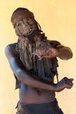 Nyau dancer Gule Wamkulu ceremony, Malawi Royalty Free Stock Photo