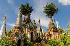 Nyaung Oak Pagodas Royalty Free Stock Photos