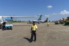 Nyaung U International Airport. A small Nyaung U International Airport port in Bagan Myanmar (Burma Stock Images