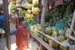 Nyaung U market, Bagan, Myanmar Royalty Free Stock Photo