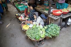 Nyaung U market, Bagan, Myanmar Royalty Free Stock Images
