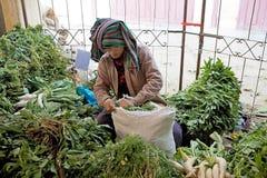 Nyaung U market, Bagan, Myanmar Stock Photos