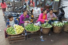 Nyaung U market, Bagan, Myanmar Royalty Free Stock Images