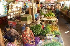 Nyaung U market, Bagan, Myanmar Royalty Free Stock Image
