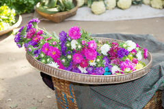 Nyaung U marknad, Bagan, Myanmar Royaltyfria Bilder