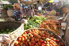 Nyaung-u Markt, Myanmar Stock Fotografie