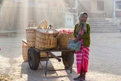 Nyaung-U Markt, Myanmar Lizenzfreies Stockfoto