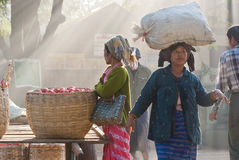Nyaung-U Markt, Myanmar Lizenzfreie Stockfotografie