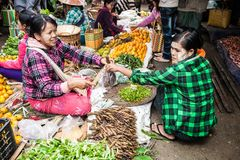Street Market, Myanmar Stock Photos