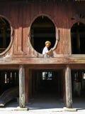 Nyaungshwe, Myanmar - January 24, 2015: An unidentified local ol Stock Image