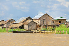 Nyaungshwe Tall House Village, Myanmar. Nyaungshwe Township is a township of Taunggyi District in the Shan State of Myanmar. The principal town is Nyaungshwe Stock Image